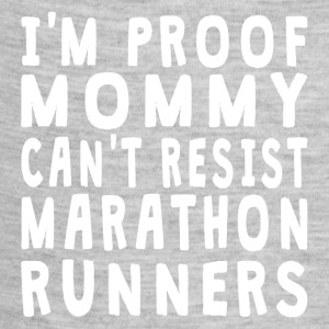 Proof Mommy Can't Resist Marathon Runners - Baby Contrast One Piece