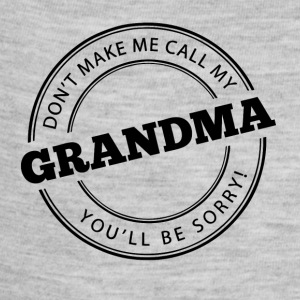 Don't Make Me Call My Grandma - Baby Contrast One Piece