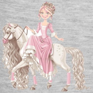 Princess-on-white-horse-cartoon - Baby Contrast One Piece