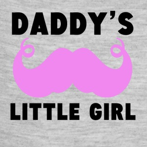 Daddy's Little Girl Mustache - Baby Contrast One Piece