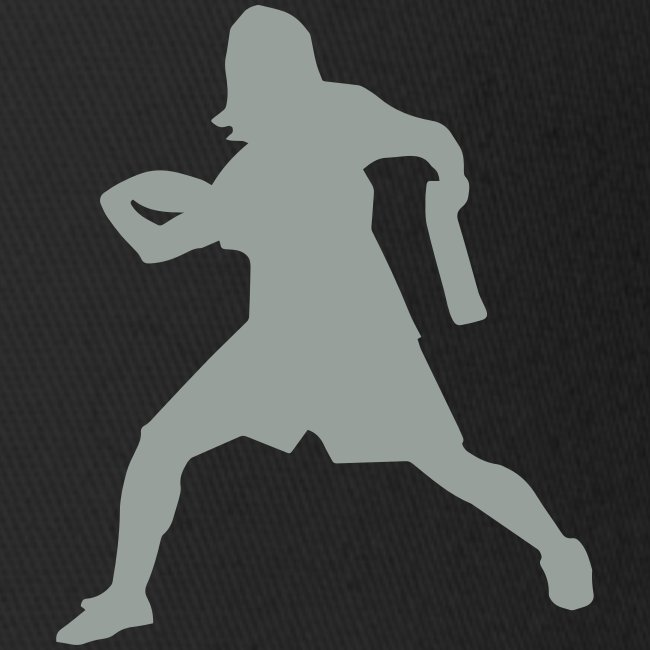 Ultimate Frisbee Hat: Forehand Silhouette