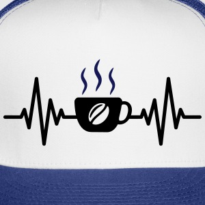 coffee heartbeat - Trucker Cap