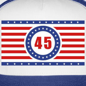 USA Flag 45 Horizontal - Trucker Cap