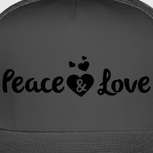 Peace & Love - Trucker Cap