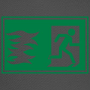 emergency exit / fire alarm sign - Trucker Cap