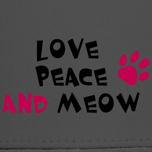 LOVE PEACE AND MEOW! - Trucker Cap