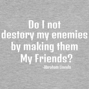 Abraham Lincoln Enemies to Friends in White - Women's Flowy Muscle Tank by Bella