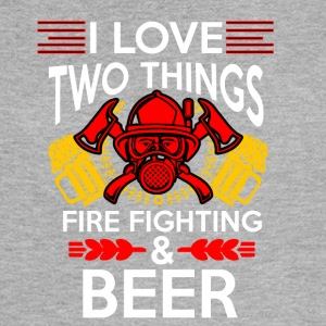 I love Fire Fighter And Beer T-shirt - Women's Flowy Muscle Tank by Bella