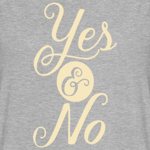 yes and no - Women's Flowy Muscle Tank by Bella