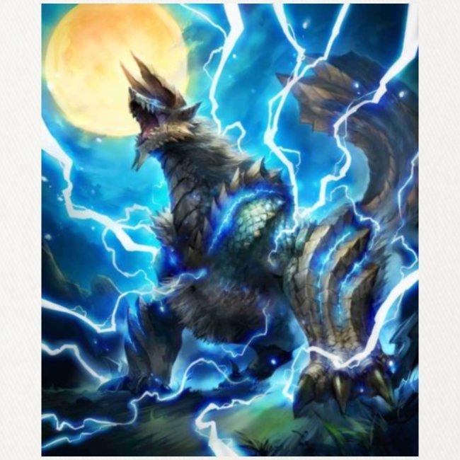 Blue lighting dragom