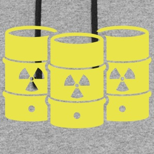 Nuclear waste - say no! - Colorblock Hoodie