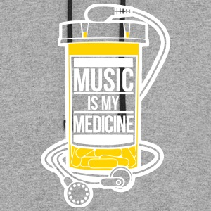 Music is my medicine - Colorblock Hoodie