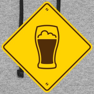 Beer Road Sign - Colorblock Hoodie