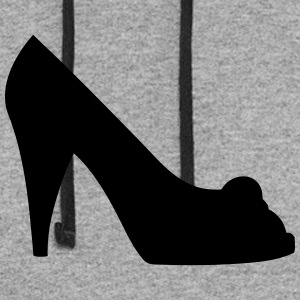Vector high heels shoes Silhouette - Colorblock Hoodie