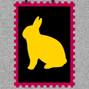 stamp with bunny - Colorblock Hoodie