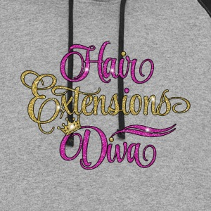 Hair Extensions Diva - Colorblock Hoodie