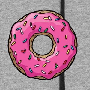 Cartoon Donut - Colorblock Hoodie