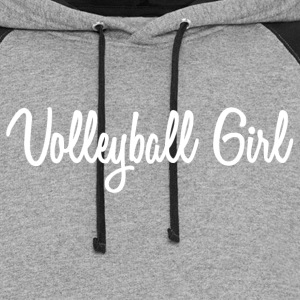 Cursive Volleyball Girl - Colorblock Hoodie