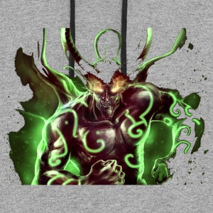 Green demon - Colorblock Hoodie