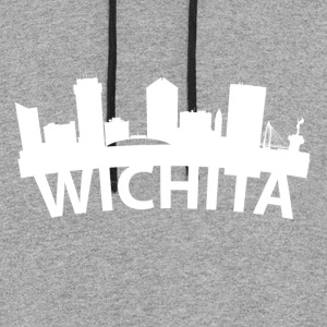 Arc Skyline Of Wichita KS - Colorblock Hoodie