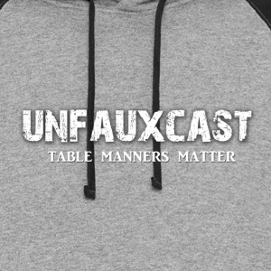 Unfauxcast Podcast Official Logo - Colorblock Hoodie