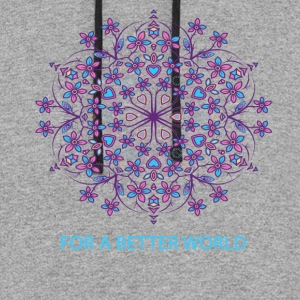 For a better world - Colorblock Hoodie