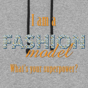 Fashion Model's Superpower - Colorblock Hoodie