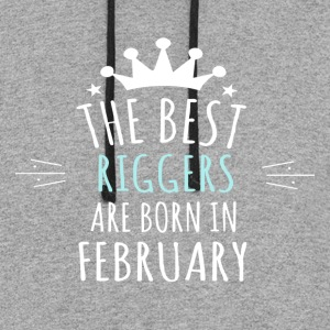 Best RIGGERS are born in february - Colorblock Hoodie