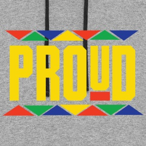 Proud (Yellow Letters) - Colorblock Hoodie