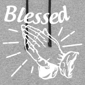 Blessed - Alt. Design (White Letters) - Colorblock Hoodie