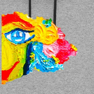 Happy face - Colorblock Hoodie