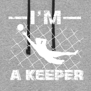 I'm a Keeper – Soccer Goalkeeper designs - Colorblock Hoodie