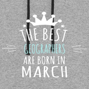 Best GEOGRAPHERS are born in march - Colorblock Hoodie