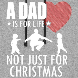 A Dad Is For Life Not Just For Christmas T Shirt - Colorblock Hoodie