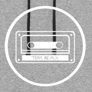 team remix white variant - Colorblock Hoodie