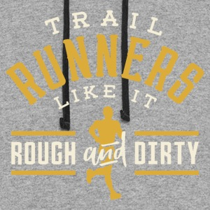 Trail Runners Like It Rough & Dirty - Colorblock Hoodie