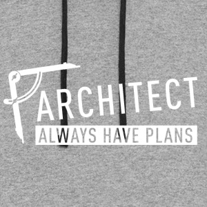 Architect always have plans - Colorblock Hoodie