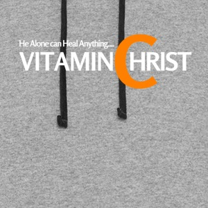 Vitamin C for Christ, he can heal. - Colorblock Hoodie
