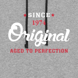 Since 1974 Original Aged To Perfection - Colorblock Hoodie