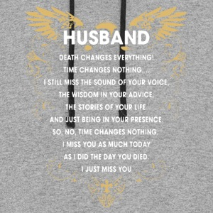 HUSBAND I JUST MISS YOU SHIRT - Colorblock Hoodie