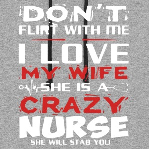 I Love My Wife Nurse Shirt - Colorblock Hoodie