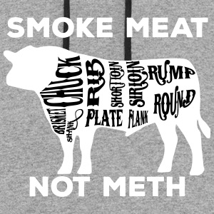 Smoke meat not meth beef edition - White - Colorblock Hoodie