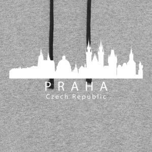 Praha Prague Czech Republic Skyline - Colorblock Hoodie