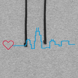 Heart for Chicago - Colorblock Hoodie