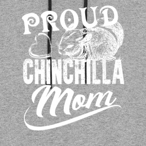 Chinchilla Mom Shirt - Colorblock Hoodie