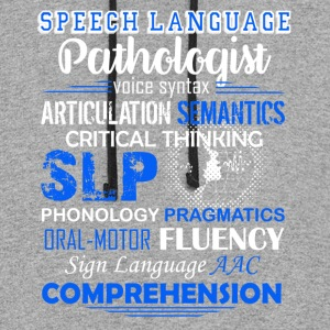 Speech Language Pathologist Shirt - Colorblock Hoodie