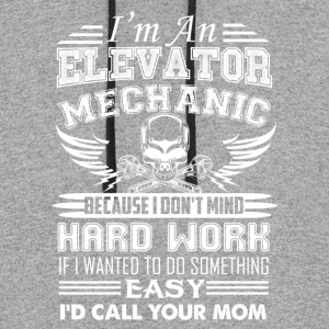 Elevator Mechanic Shirt - Colorblock Hoodie