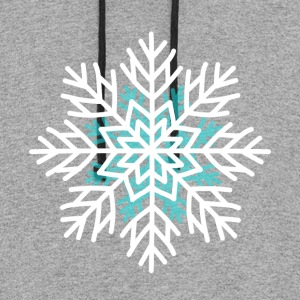 Snowflake t shirt men Christmas winter day - Colorblock Hoodie