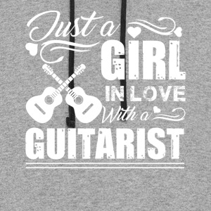Girl In Love With A Guitarist Shirt - Colorblock Hoodie