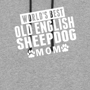 World's Best Old English Sheepdog Mom - Colorblock Hoodie
